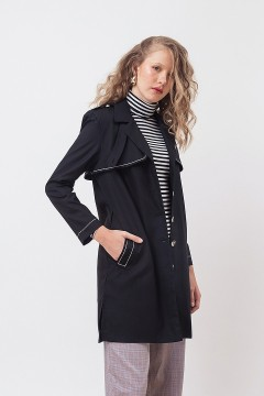 Black Stitched Coat
