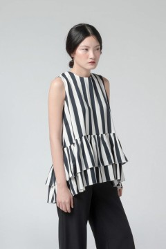 Stripes Ming Peplum