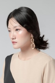 Gold Metal Earrings
