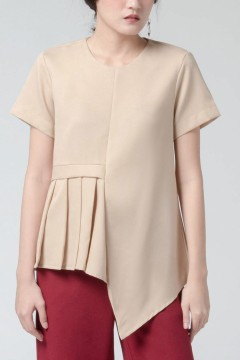 Latte Pleated Anja Top