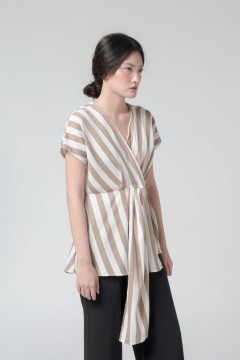 Khaky Stripes Kimi Top