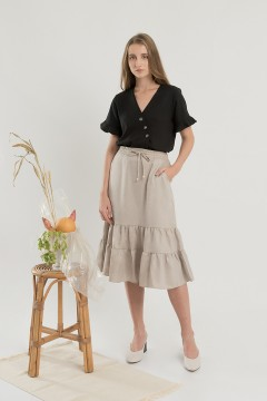 Khaky Flairy Skirt