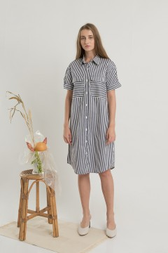 Stripes Utility Dress