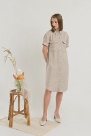 Khaky Utility Dress