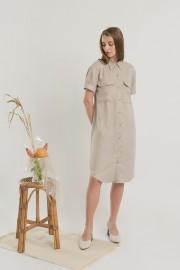Khaky Utility Dress
