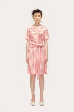 Checked Pink Ayura Dress