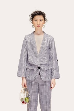 Checked Kyra Blazer