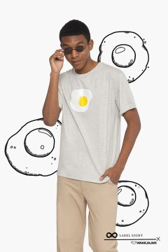 GREY EGG TSHIRT
