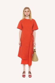 Coral Eurasia Dress