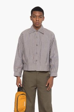 Mauve Stripes  Parallel Shirt