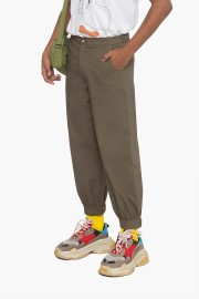 Olive Perspective Pants