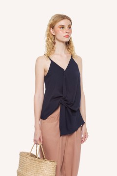 Navy Tartar Top
