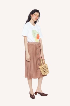 Mocca Artic Pleated Skirt