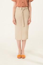 Cream Plot Skirt