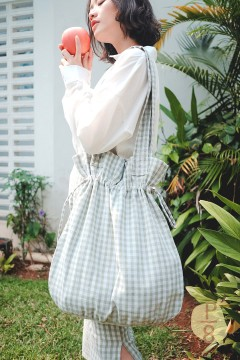 Plaid Juna Tote Bag