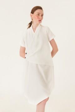 White Cesca Dress