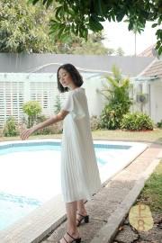 Pleated Kyung Mi Dress
