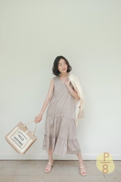 Taupe Da Hae Dress