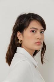 Marble Eliptical Earring