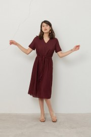 Maroon Spectra Dress