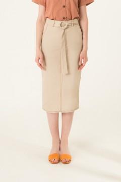 Creme Plot Skirt (A)