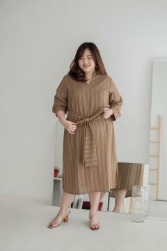 Brown Stripes Lyra Dress