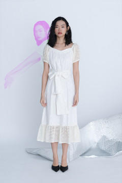 White Nouvel Dress