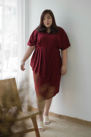 Maroon Carina Dress