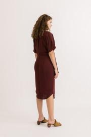 Wine Cara Dress
