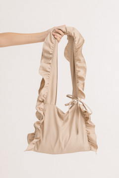 Almond Ruffled bag
