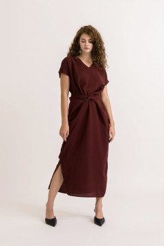 Wine Nastya Dress
