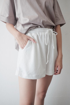 White Casual Shorts