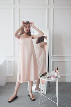 Peach Staple Dress