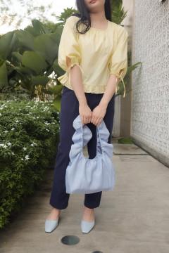 Sky Ruffled Bag