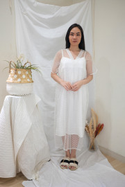White Freya Dress