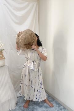 Blue Nui Cascade Dress