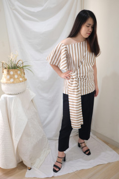 Stripes Brown Gisele Top