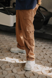 Mocha Utility Cargo Pants