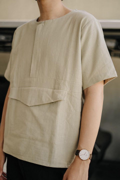 Olive Relief Oversized Top