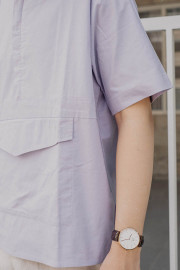 Lilac Relief Oversized Top