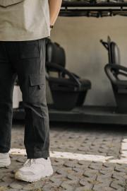 Black Utility Cargo Pants