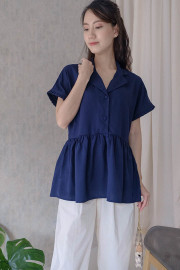Navy Lunel Top