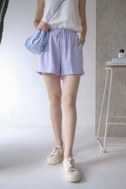 Lavender Casual Shorts