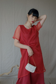 Sangria Wenling Dress