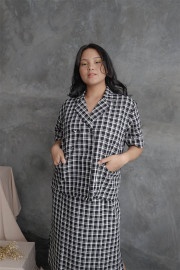 Checked Meise Top Outer