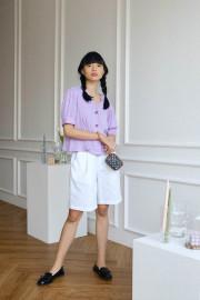 Lilac Miku Top