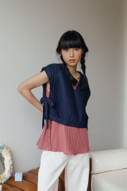 Navy Willow Top Outer