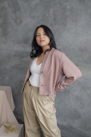 Taupe Jessie Top Outer