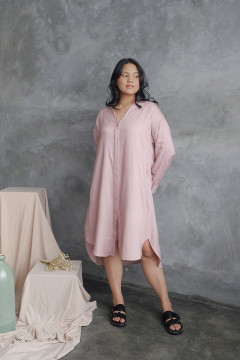 Mauve Lumina Shirt Dress