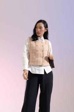 Sunset Coco Tweed Vest
